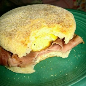 "Breakfast in Bed: Homemade ""McMuffins"""