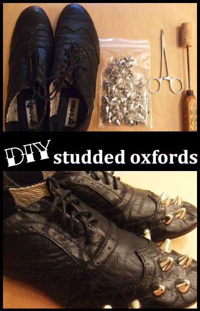 DIY Studded Oxfords Preview