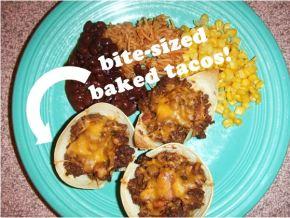 Bite-Sized Baked Tacos
