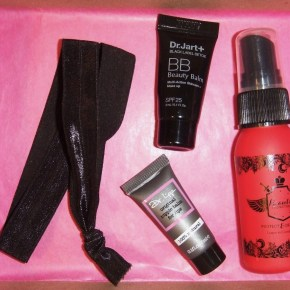 Birchbox No. 4: Beauty Protector, Dr. Lipp, twistband, Dr. Jart+ & Ghirardelli